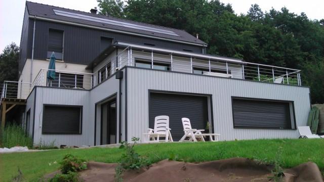 Maison bois amiens beauvais construction et for Agrandissement maison avec toit terrasse