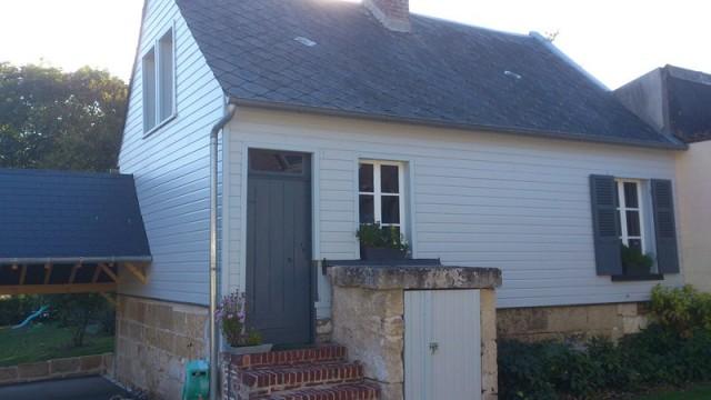 Bardage pignon maison redessinez votre maison avec les for Maison bardage bois gris