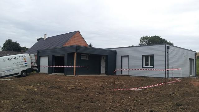 Maison bois amiens beauvais construction et for Maison garage double