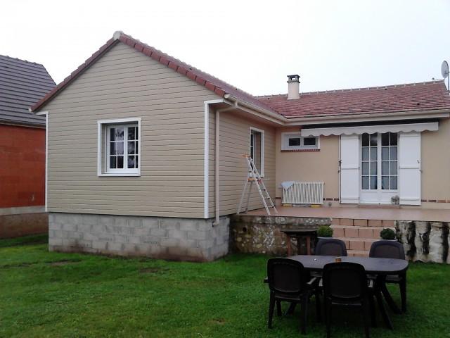 Maison bois amiens beauvais construction et for Agrandissement chambre